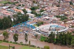 Hoogste mening aan de markt, Peru Royalty-vrije Stock Foto