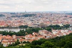Hoogste mening aan oude stad van Praag Royalty-vrije Stock Foto