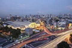 Hoogste mening bij het openbare oriëntatiepunt van Hua Lamphong Station Royalty-vrije Stock Foto