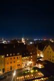 Hoogste mening bij nacht van Kaiserburg, Nuremberg royalty-vrije stock afbeeldingen
