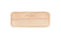 Hoogste mening: houten dienblad Stock Afbeelding