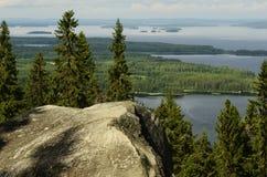 Hoogste mening, Koli National Park, Finland Royalty-vrije Stock Afbeeldingen