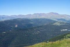 Hoogste mening over de bergen van de Pyreneeën Stock Afbeelding