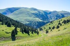 Hoogste mening over de bergen van de Pyreneeën Royalty-vrije Stock Foto