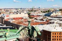 Hoogste mening over de Stad van het observatiedek Royalty-vrije Stock Fotografie