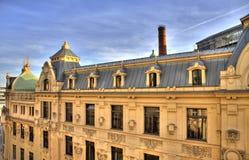Hoogste mening over het gemeentelijke huis Obicni Dum van Praag Stock Foto's