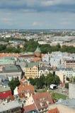 Hoogste mening over Oud Riga Stock Afbeelding
