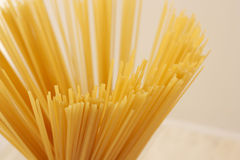 Hoogste mening over spaghetti royalty-vrije stock foto
