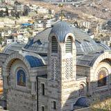 Hoogste mening over St Peter in Gallicantu-Klooster, Zion Mount Stock Fotografie