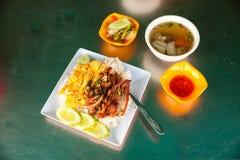 Hoogste mening over Straatvoedsel in Kambodja royalty-vrije stock fotografie