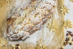 Hoogste Mening over traditionele Tsjechische Kerstmis gevlechte broodvanocka Stock Afbeelding