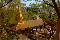 Hoogste mening van Ashtvinayak-tempel, Chatushrungi royalty-vrije stock fotografie