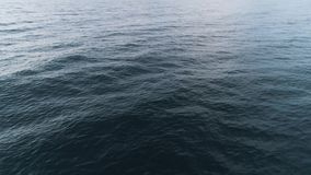 Hoogste mening van blauwe overzeese rimpelingen schot Achtergrond van waterspiegel met vlotte golven en rimpelingen Beweging van  stock footage