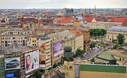 Hoogste mening van Boedapest de stad in, Hongarije Stock Foto's