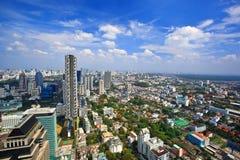 Hoogste mening van centrum in Bangkok Stock Foto's