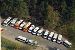 Hoogste mening van de definitieve bushalte Balashikha, Rusland Royalty-vrije Stock Foto