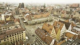 Hoogste mening van de oude stad van Wroclaw stock afbeelding