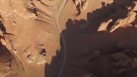 Hoogste mening van de prachtige landschappen van canions stock videobeelden