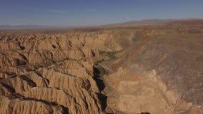 Hoogste mening van de prachtige landschappen van canions stock video
