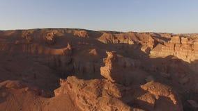 Hoogste mening van de prachtige landschappen van canions stock footage