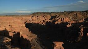 Hoogste mening van de prachtige landschappen van canions Taymlaps stock video