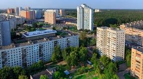 Hoogste mening van de stad Balashikha in het gebied van Moskou, Rusland Royalty-vrije Stock Foto