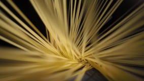 Hoogste mening van dichte omhooggaande abstracte spaghettipunt en lijn in langzame motie stock videobeelden