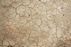 Hoogste mening van dor land met droge gebarsten grond royalty-vrije stock foto's