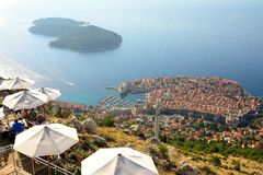 Hoogste mening van Dubrovnik, Kroatië Royalty-vrije Stock Foto's