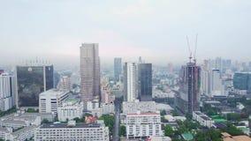 Hoogste mening van een Globale Stad van Hongkong met ontwikkelingsgebouwen, vervoer, de infrastructuur van de energiemacht financ stock footage