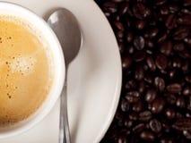 Hoogste mening van een kop van koffie Royalty-vrije Stock Afbeelding