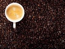 Hoogste mening van een kop van koffie Stock Fotografie