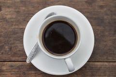 Hoogste mening van een kop van koffie Stock Foto's