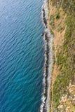 Hoogste mening van een kustlijn Royalty-vrije Stock Fotografie