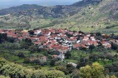 Hoogste mening van een Portugees historisch dorp Royalty-vrije Stock Foto's
