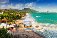 Hoogste mening van een tropisch eiland van strandkoh samui Royalty-vrije Stock Afbeelding