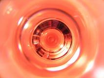 Hoogste mening van een wijnglas royalty-vrije stock foto's