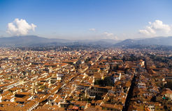 Hoogste mening van Florence van duomo, Italië Stock Fotografie