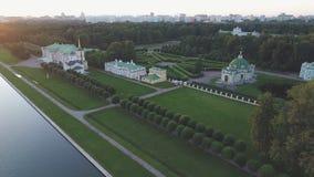 Hoogste mening van het landgoed Kuskovo in Moskou stock videobeelden