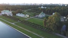 Hoogste mening van het landgoed Kuskovo in Moskou stock video