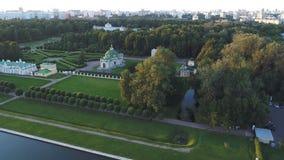 Hoogste mening van het landgoed Kuskovo in Moskou stock footage