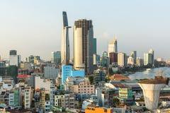 Hoogste mening van Ho Chi Minh City Royalty-vrije Stock Foto