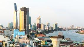 Hoogste mening van Ho Chi Minh City Ho Chi Minh Stock Fotografie