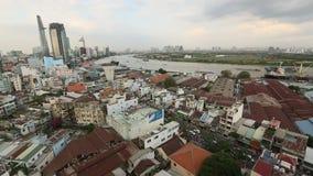 Hoogste mening van Ho Chi Minh City (Saigon) stock videobeelden
