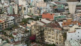Hoogste mening van Ho Chi Minh City (Saigon), Vietnam stock footage