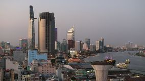 Hoogste mening van Ho Chi Minh City Saigon Vietnam stock footage