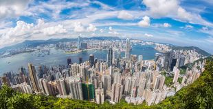 Hoogste mening van Hong Kong-stad royalty-vrije stock afbeelding