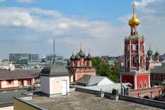 Hoogste mening van hoog Klooster van St Peter moskou Stock Foto's