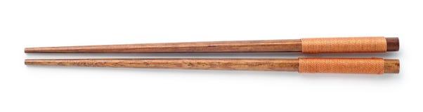 hoogste mening van houten eetstokjes stock fotografie