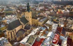 Hoogste mening van Lviv Royalty-vrije Stock Foto